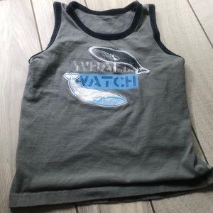 Gymboree Boys Size 7 whale watch tank top